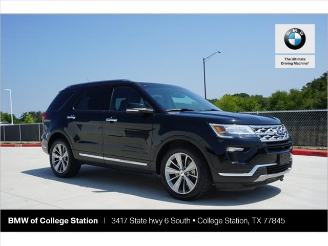 College Station Ford >> Pre Owned 2018 Ford Explorer Limited Fwd 4d Sport Utility